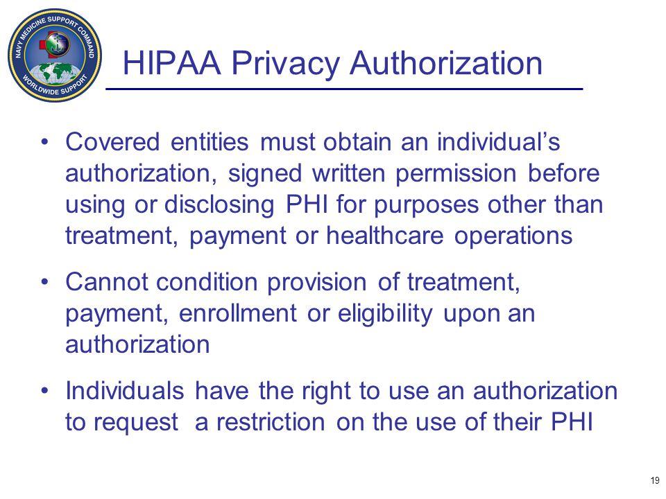 HIPAA Privacy Authorization