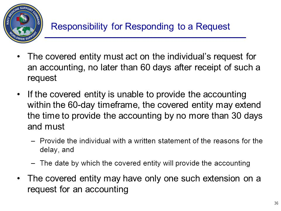 Responsibility for Responding to a Request