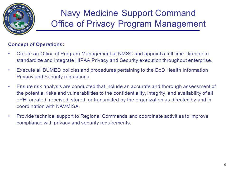 Navy Medicine Support Command Office of Privacy Program Management