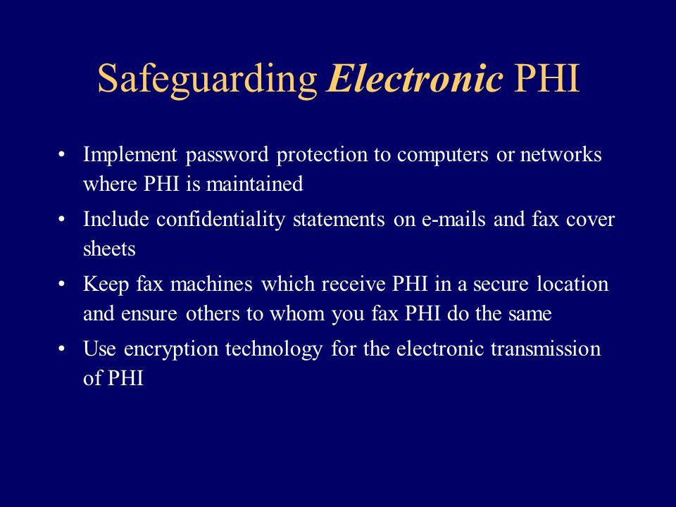 Safeguarding Electronic PHI