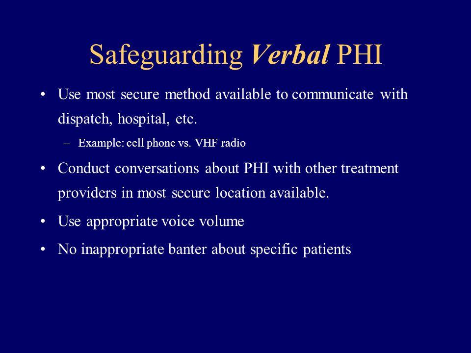Safeguarding Verbal PHI