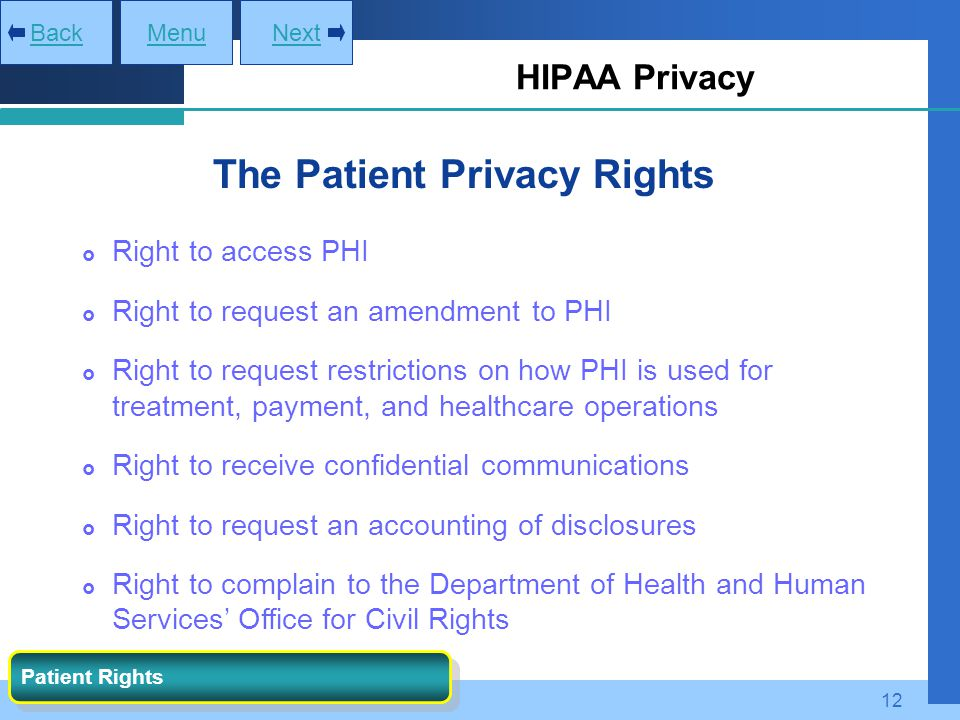 The Patient Privacy Rights