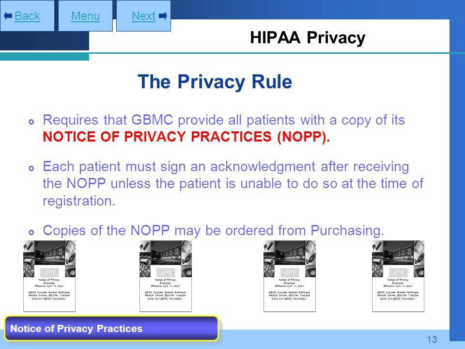 The Privacy Rule HIPAA Privacy