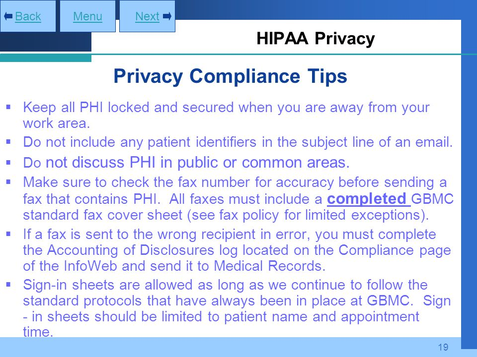 Privacy Compliance Tips