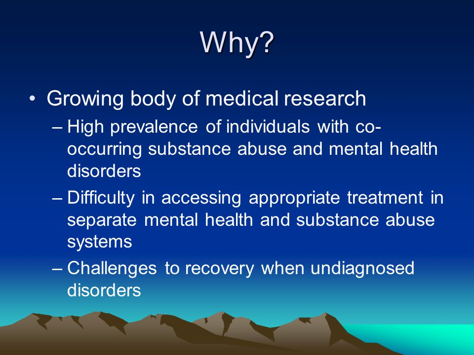Why Growing body of medical research