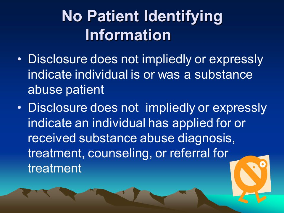 No Patient Identifying Information