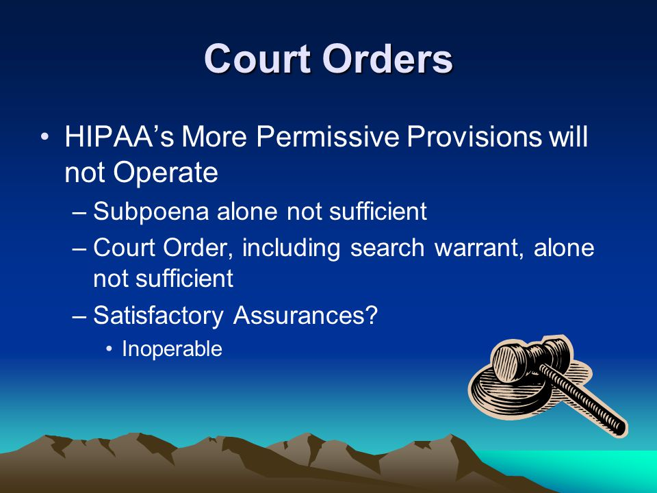 Court Orders HIPAA's More Permissive Provisions will not Operate