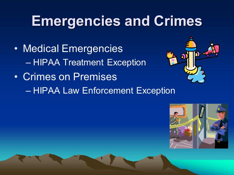 Emergencies and Crimes
