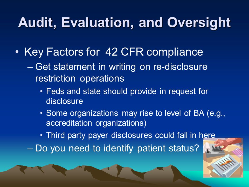 Audit, Evaluation, and Oversight