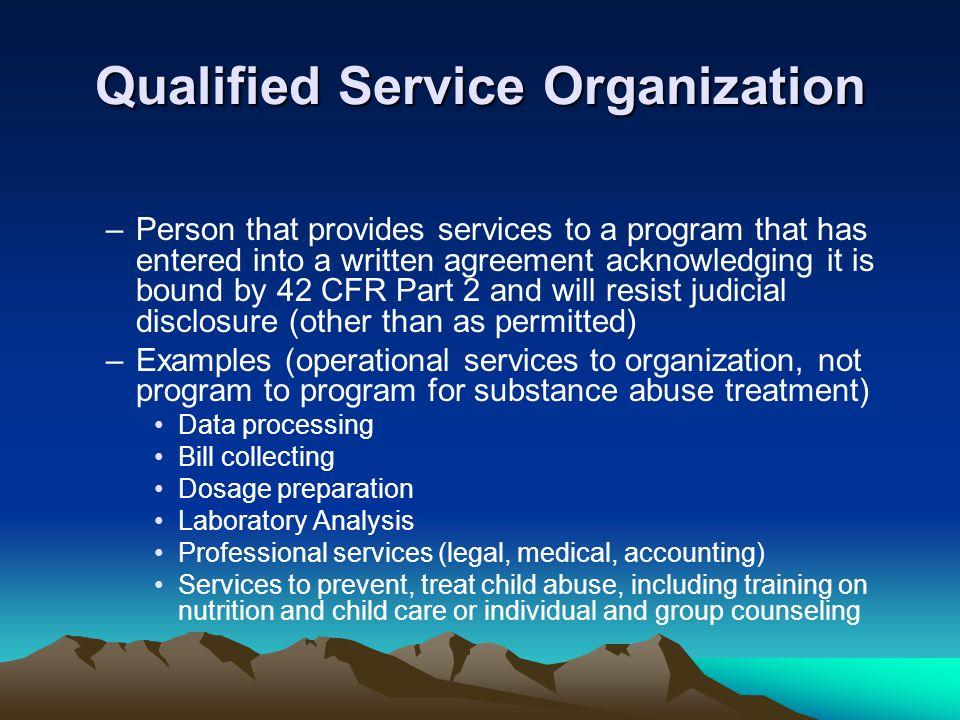 Qualified Service Organization