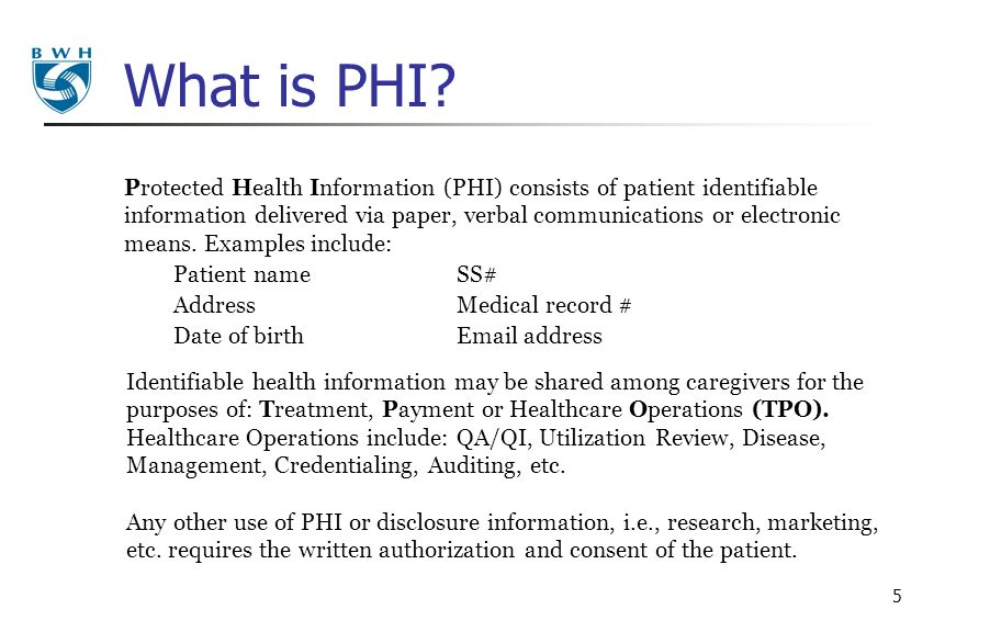 What is PHI