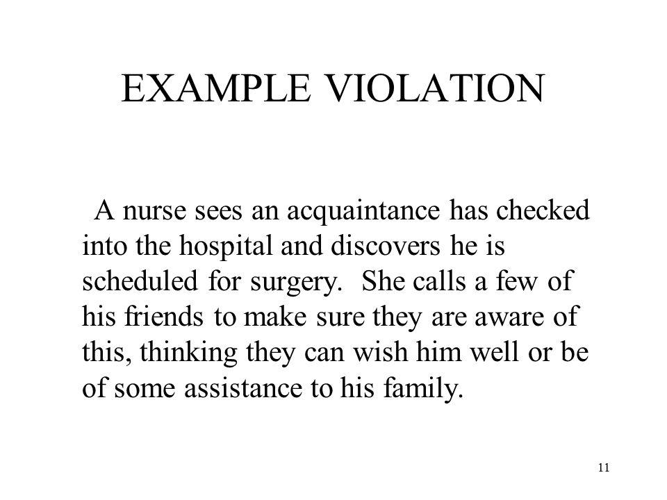 EXAMPLE VIOLATION