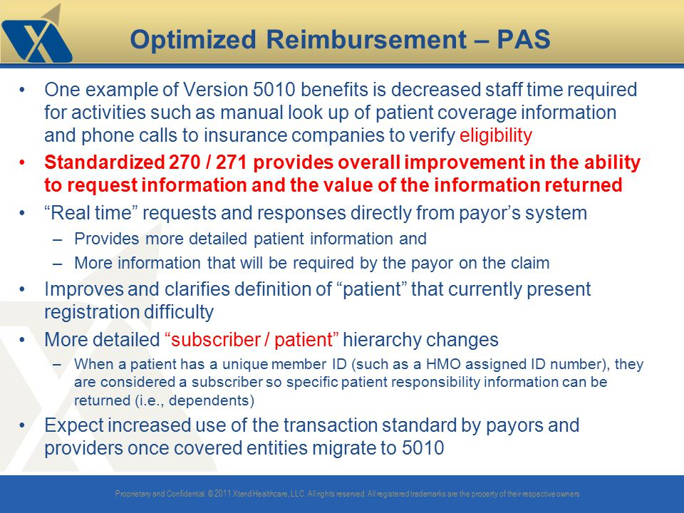 Optimized Reimbursement – PAS