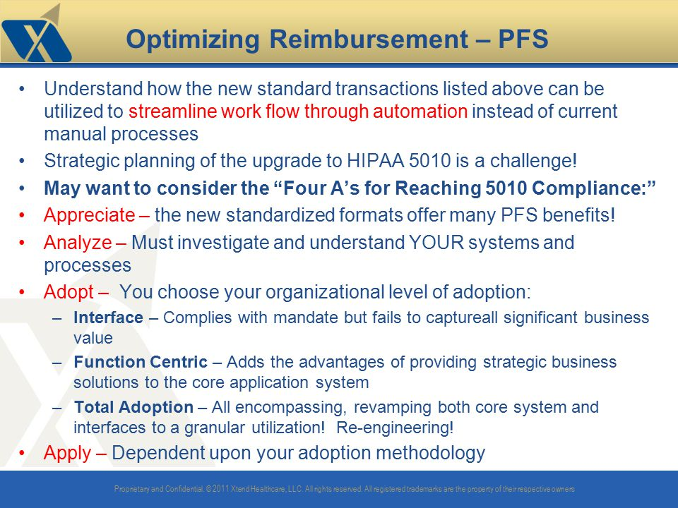 Optimizing Reimbursement – PFS