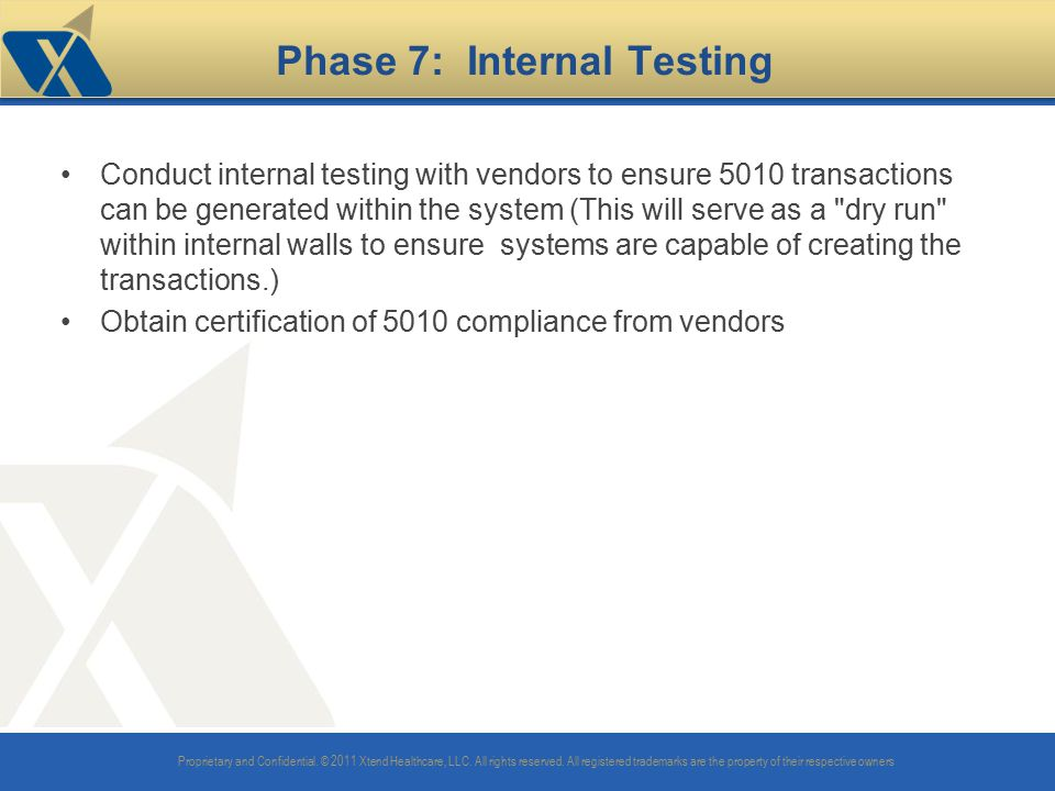Phase 7: Internal Testing