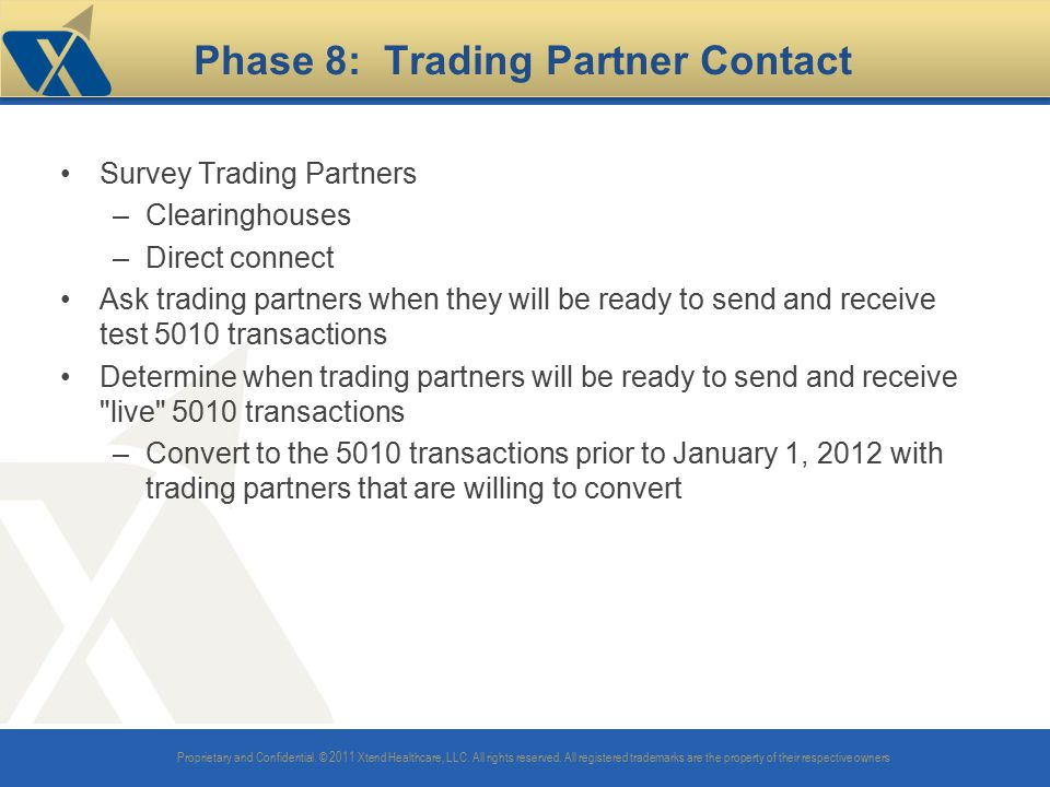 Phase 8: Trading Partner Contact