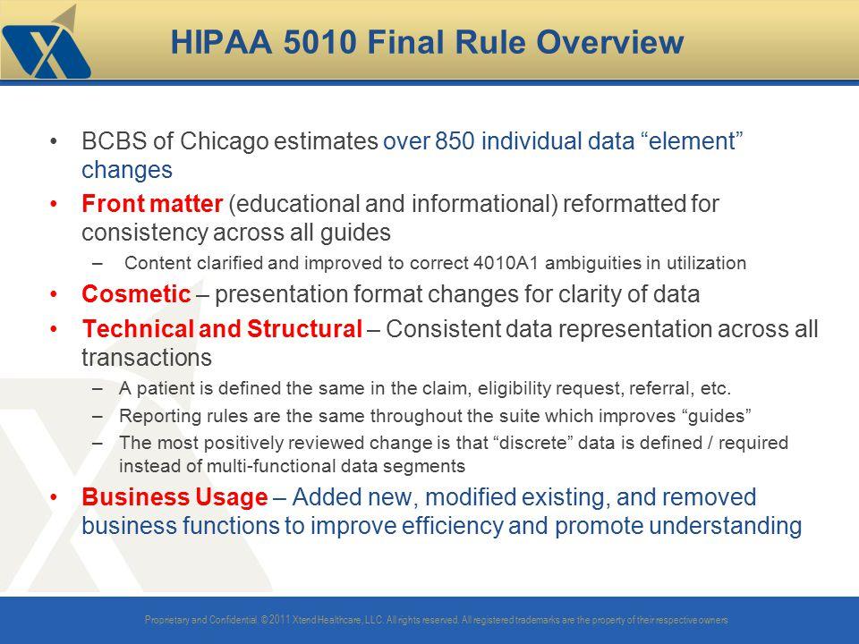 HIPAA 5010 Final Rule Overview