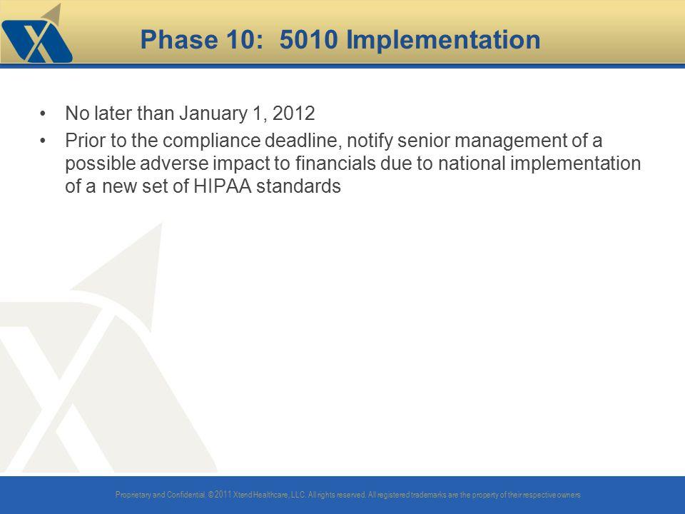Phase 10: 5010 Implementation