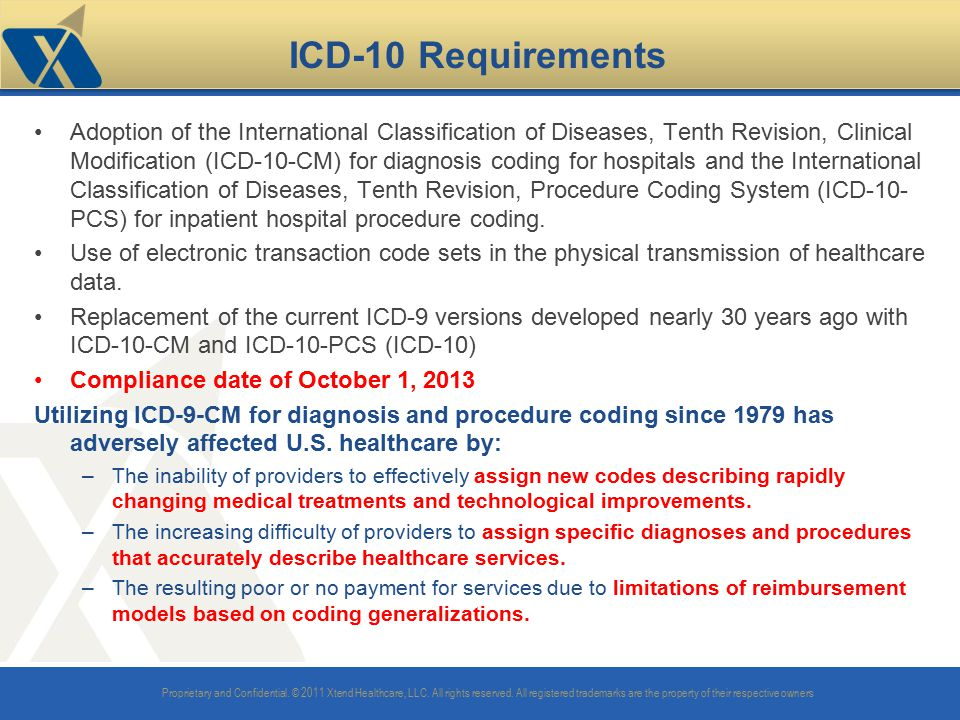 ICD-10 Requirements
