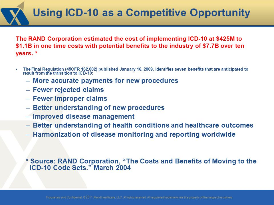 Using ICD-10 as a Competitive Opportunity