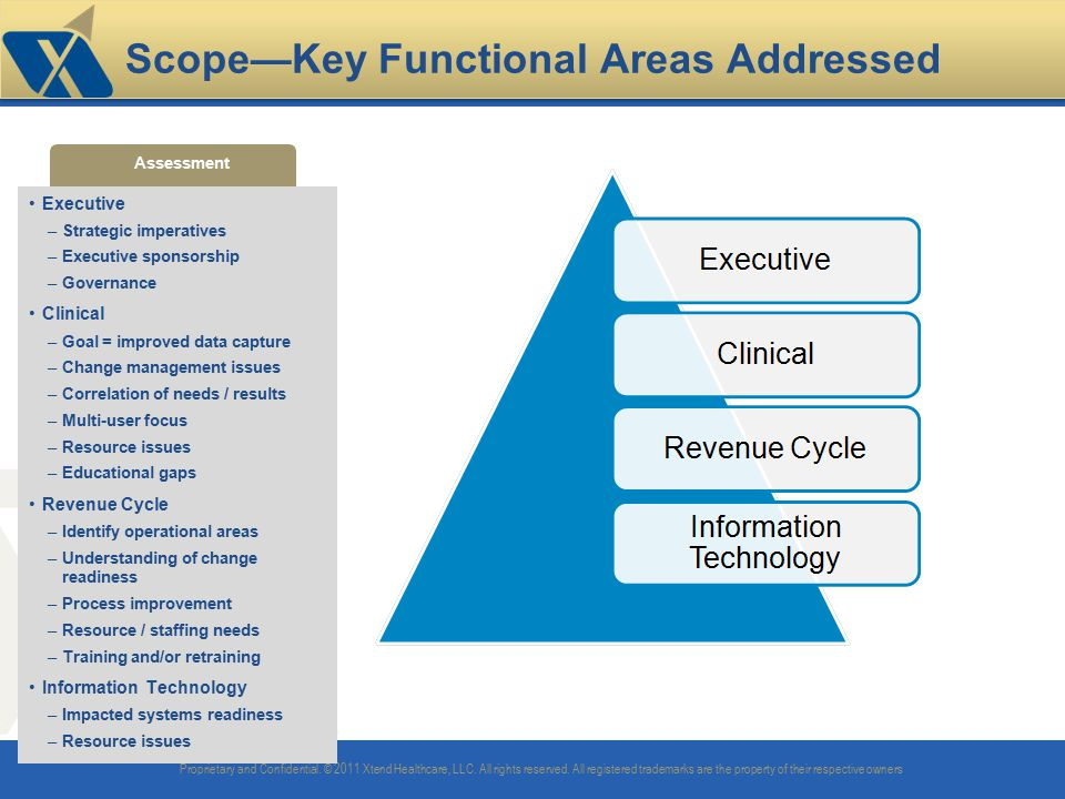 Scope—Key Functional Areas Addressed