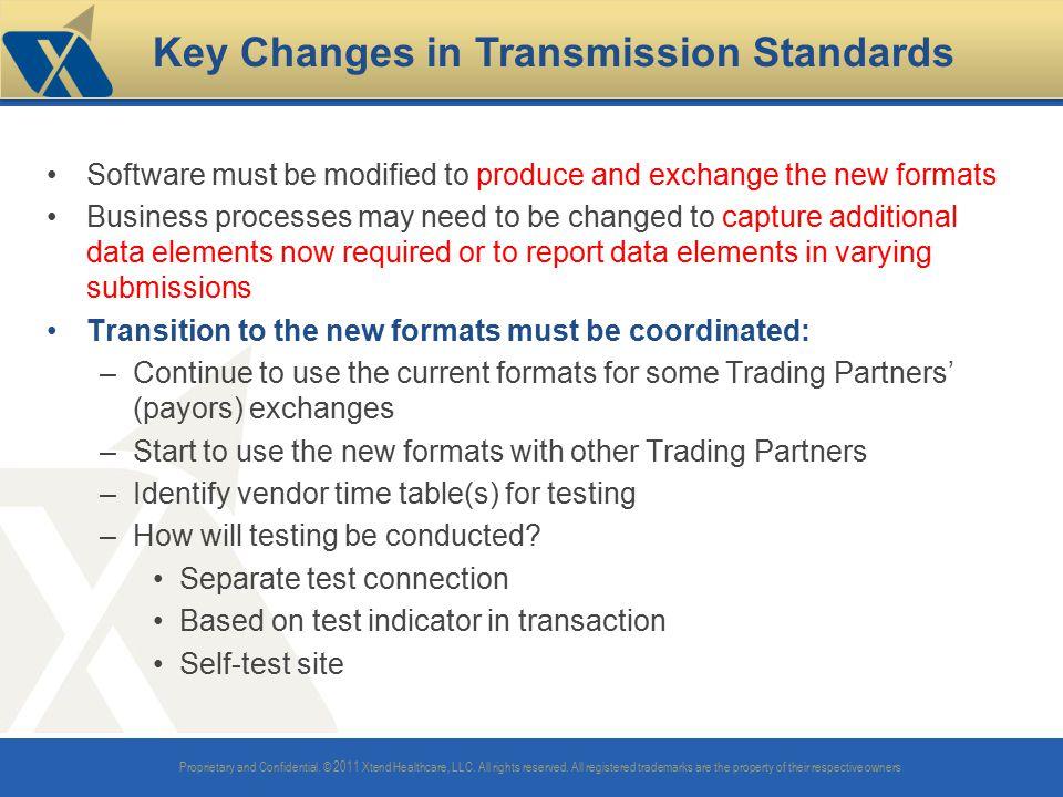 Key Changes in Transmission Standards