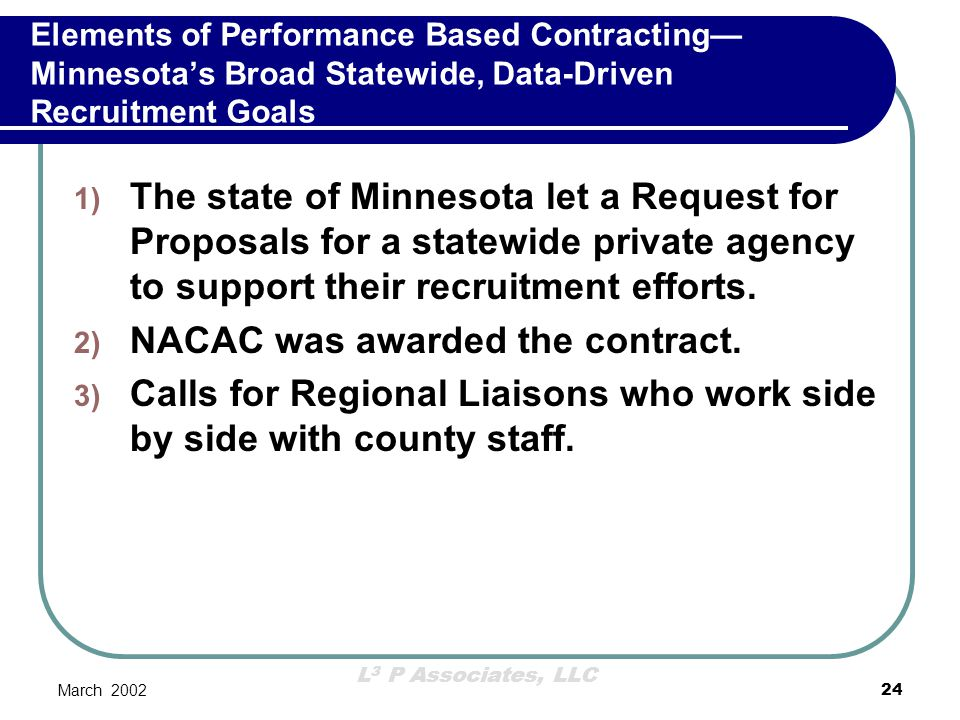 NACAC was awarded the contract.