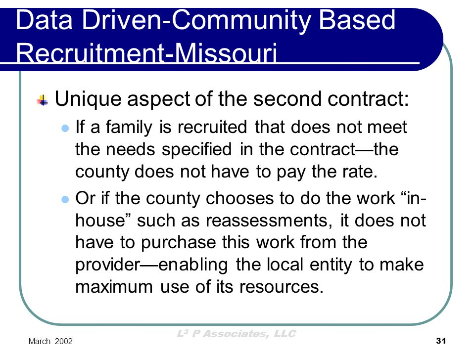 Data Driven-Community Based Recruitment-Missouri