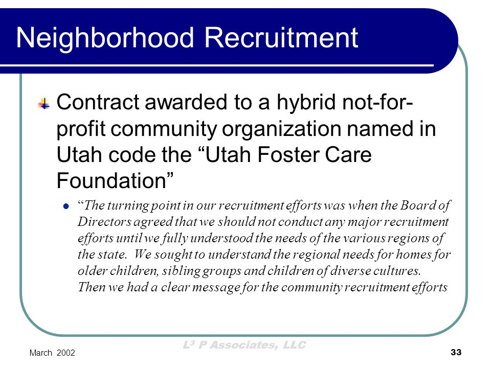 Neighborhood Recruitment