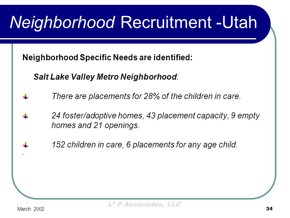 Neighborhood Recruitment -Utah