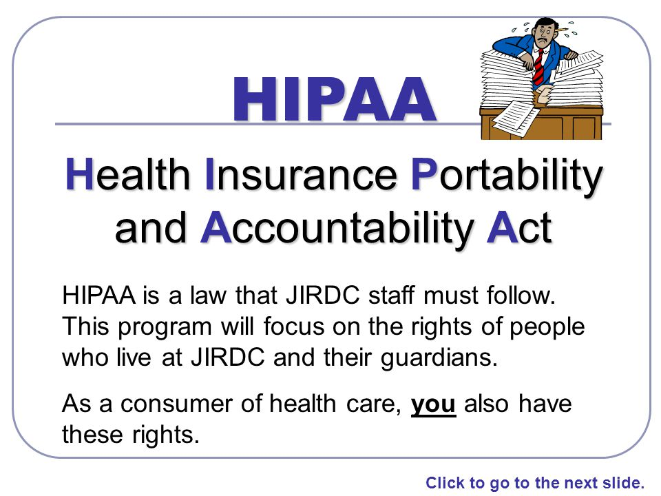 the health insurance portability and accountability