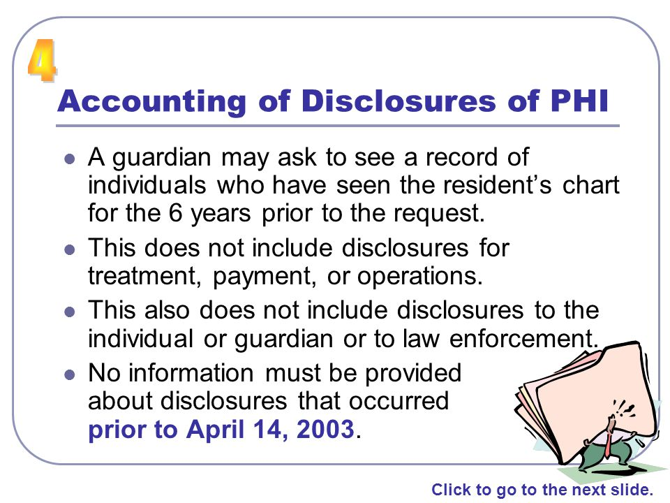 Accounting of Disclosures of PHI