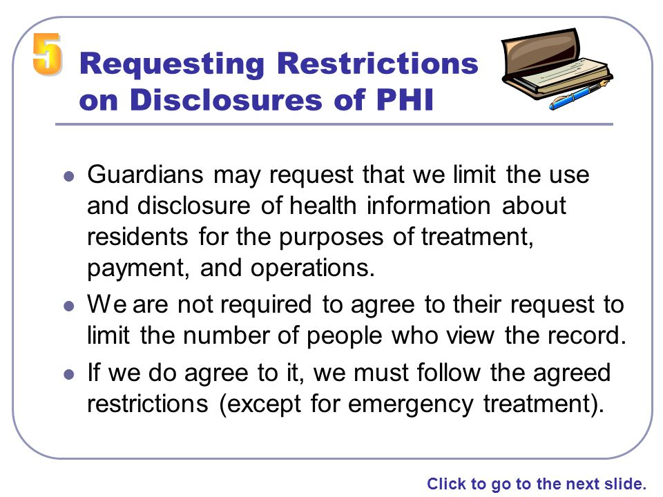 Requesting Restrictions on Disclosures of PHI