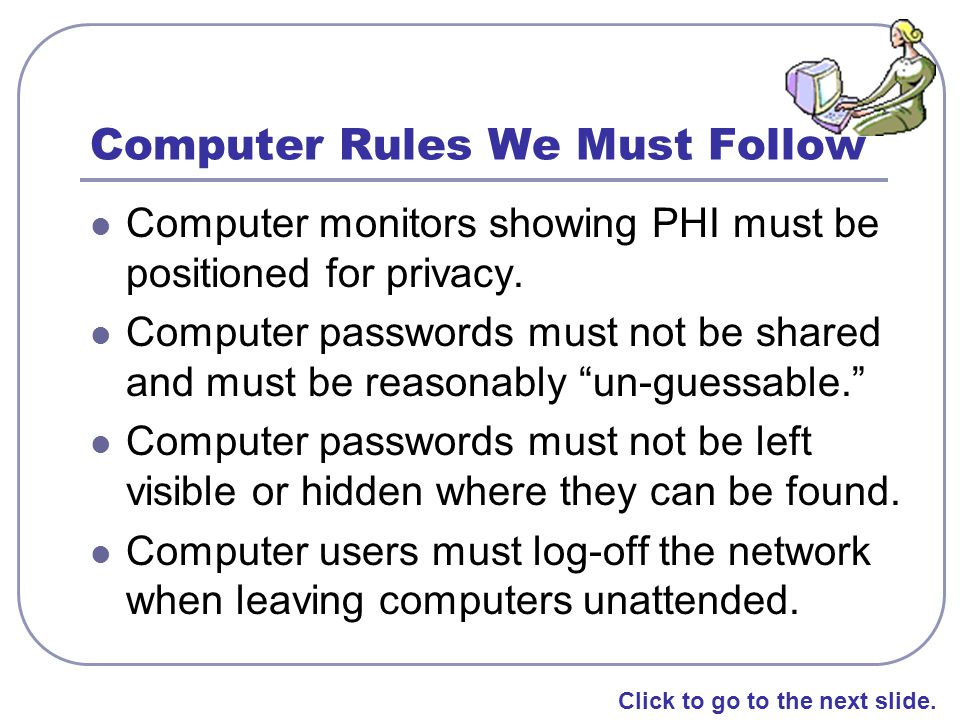 Computer Rules We Must Follow