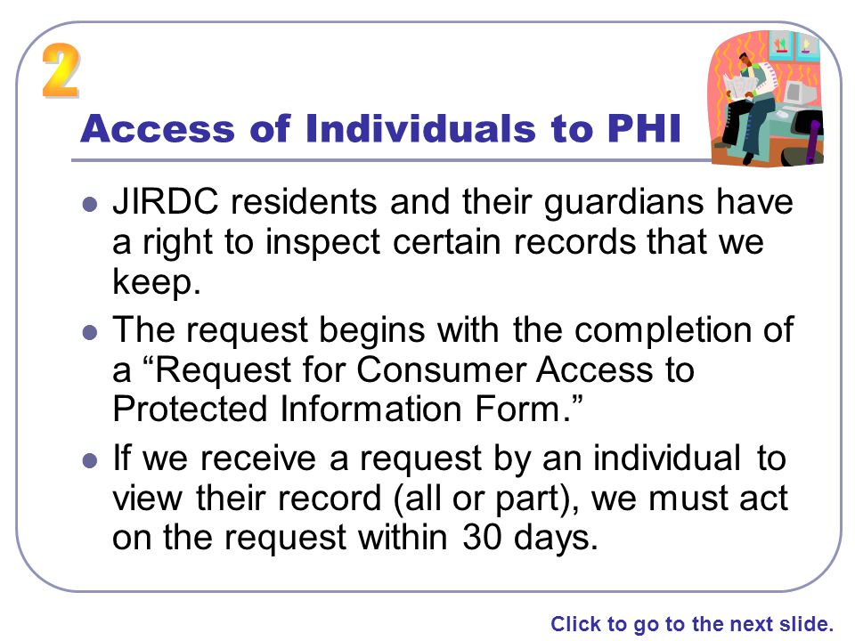 Access of Individuals to PHI