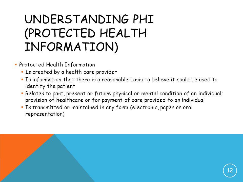 Understanding PHI (Protected Health Information)