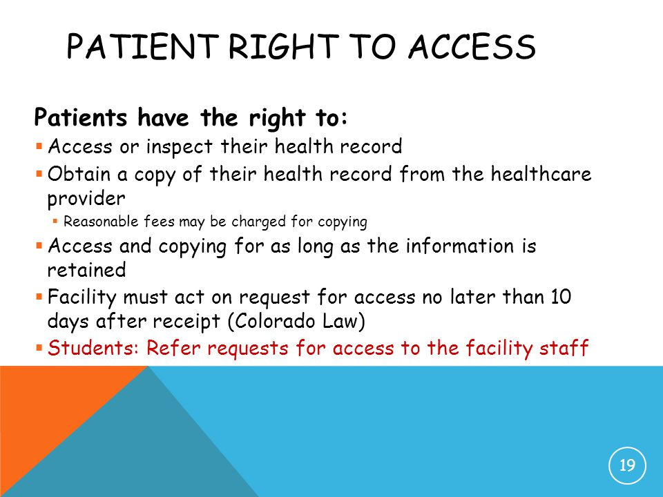Patient Right to Access