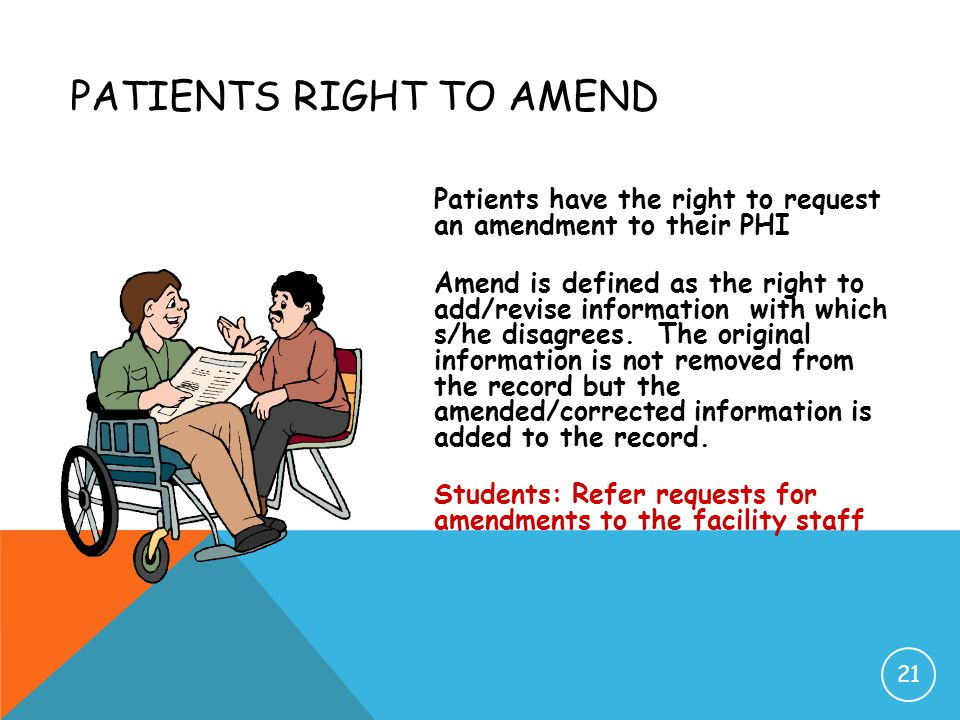 Patients Right to Amend