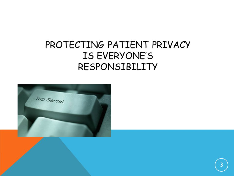 Protecting Patient Privacy IS EVERYONE'S RESPONSIBILITY