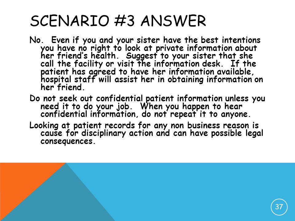 Scenario #3 Answer