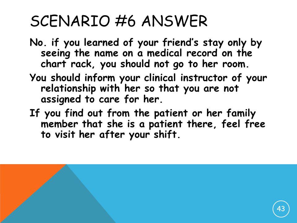 Scenario #6 Answer