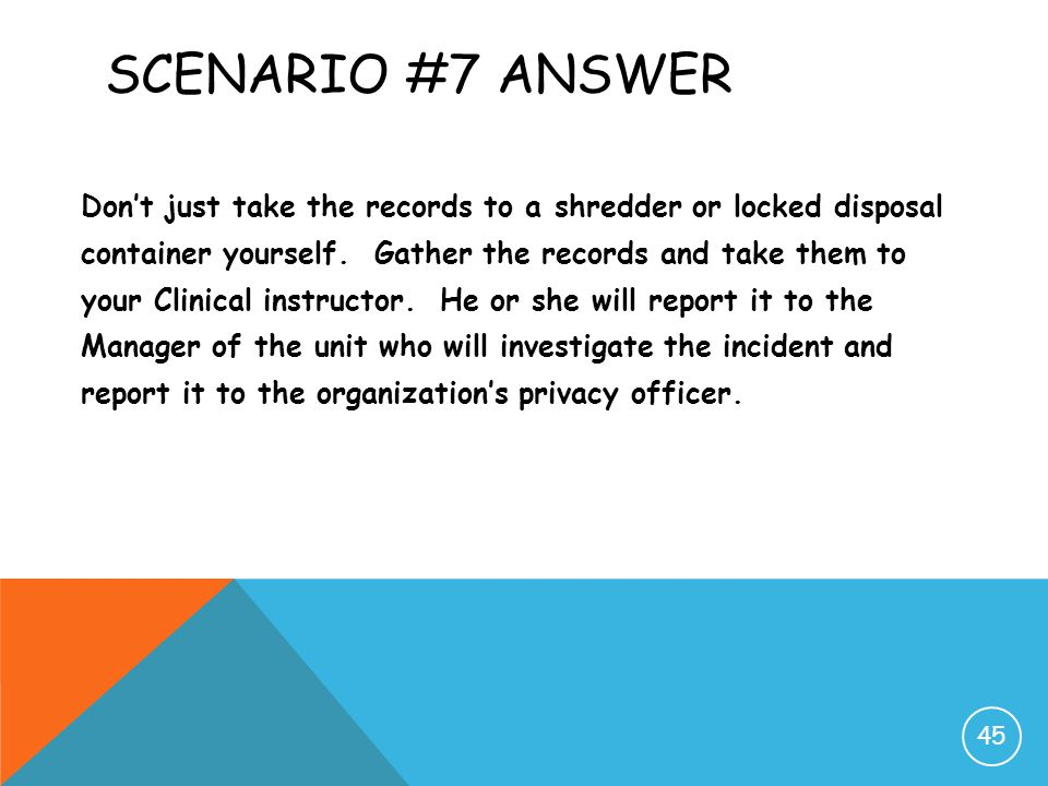 Scenario #7 Answer
