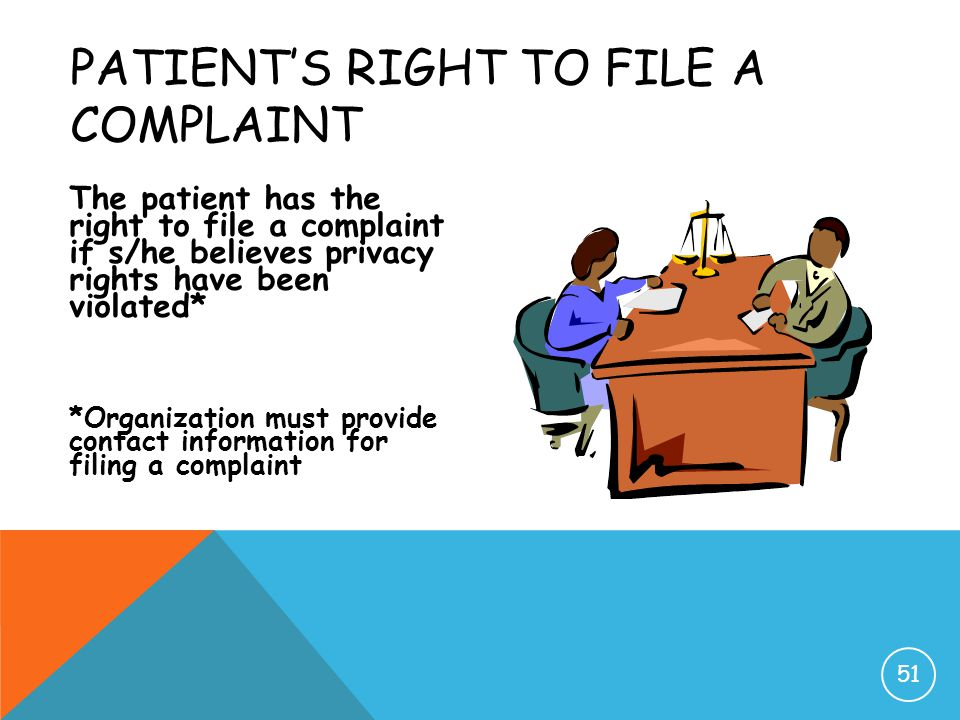 Patient's Right to File a Complaint