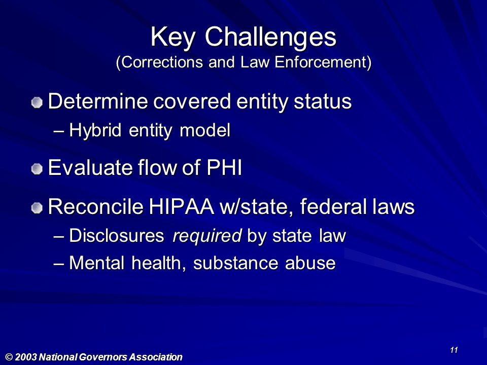 Key Challenges (Corrections and Law Enforcement)