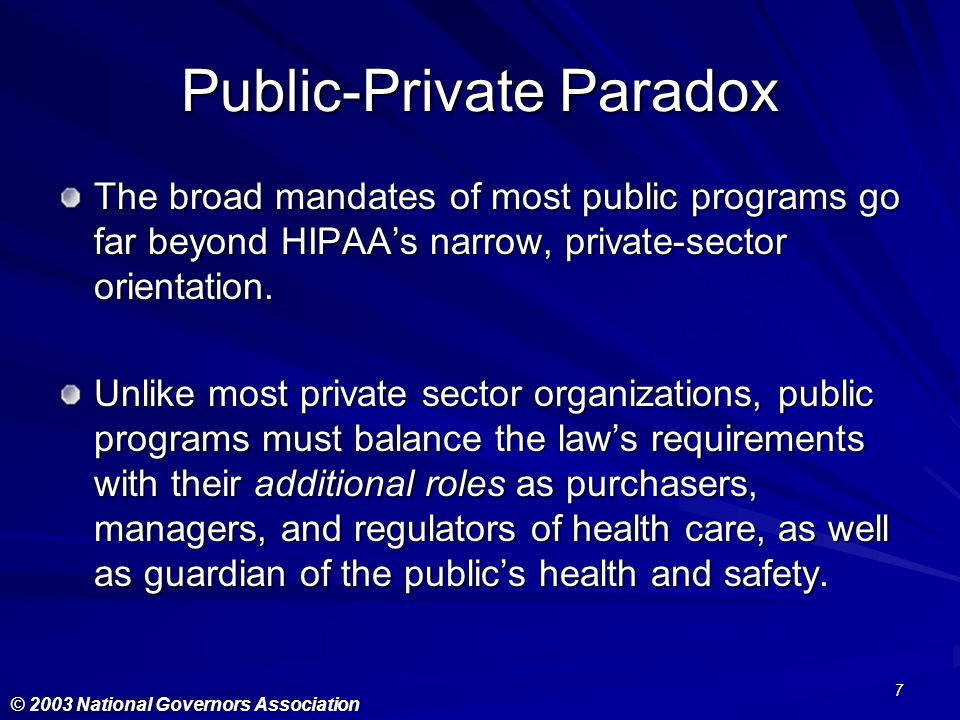 Public-Private Paradox