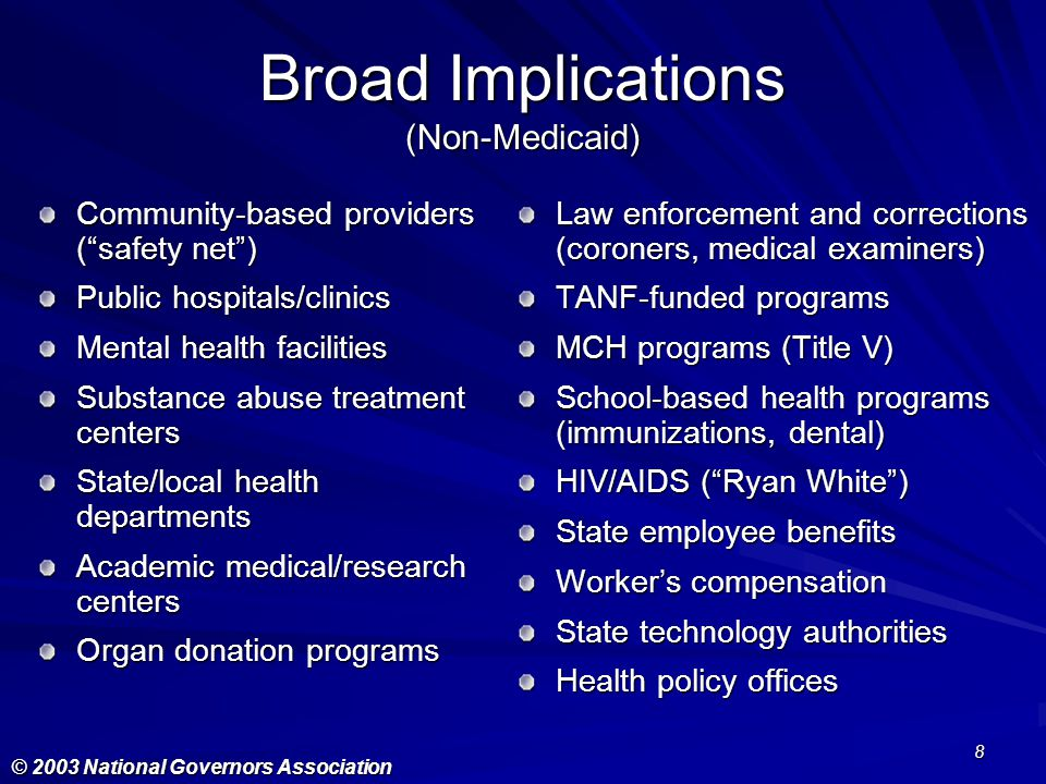 Broad Implications (Non-Medicaid)
