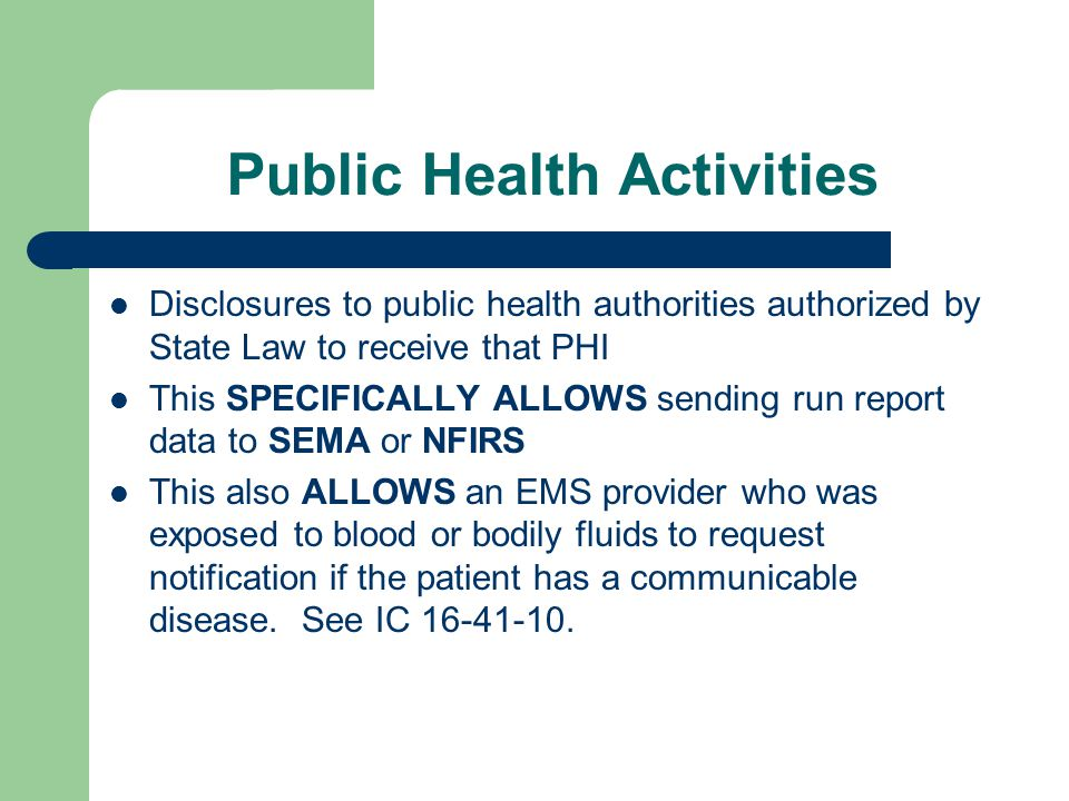 Permitted Unauthorized Disclosures (Slide 1 of 2)