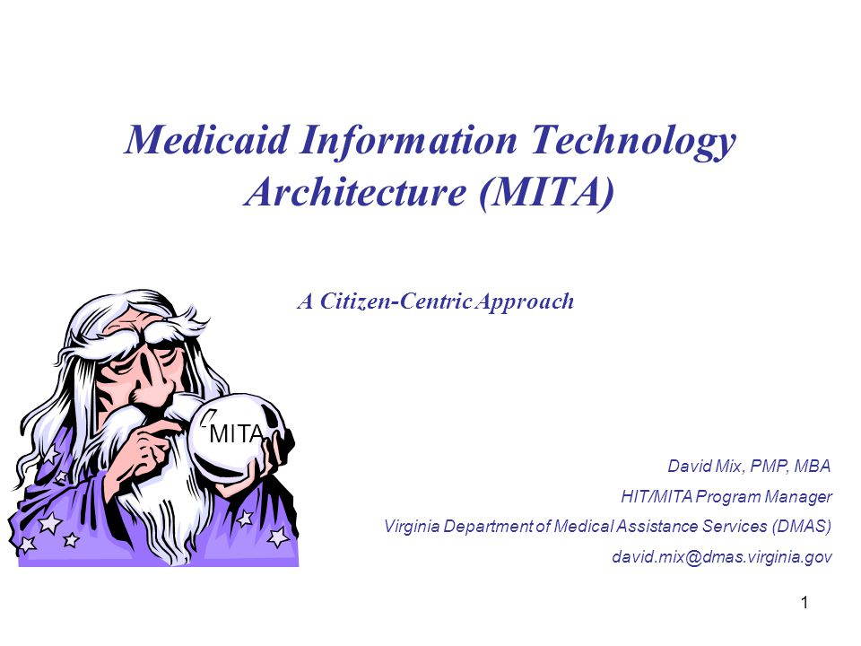 Medicaid Information Technology Architecture (MITA) A Citizen-Centric Approach