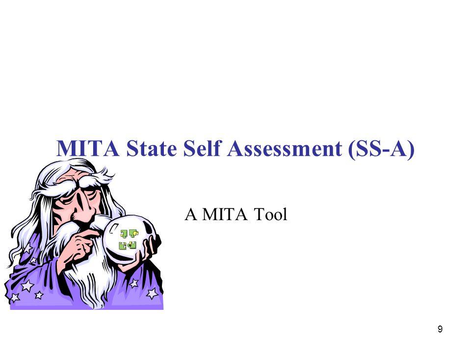 MITA State Self Assessment (SS-A)