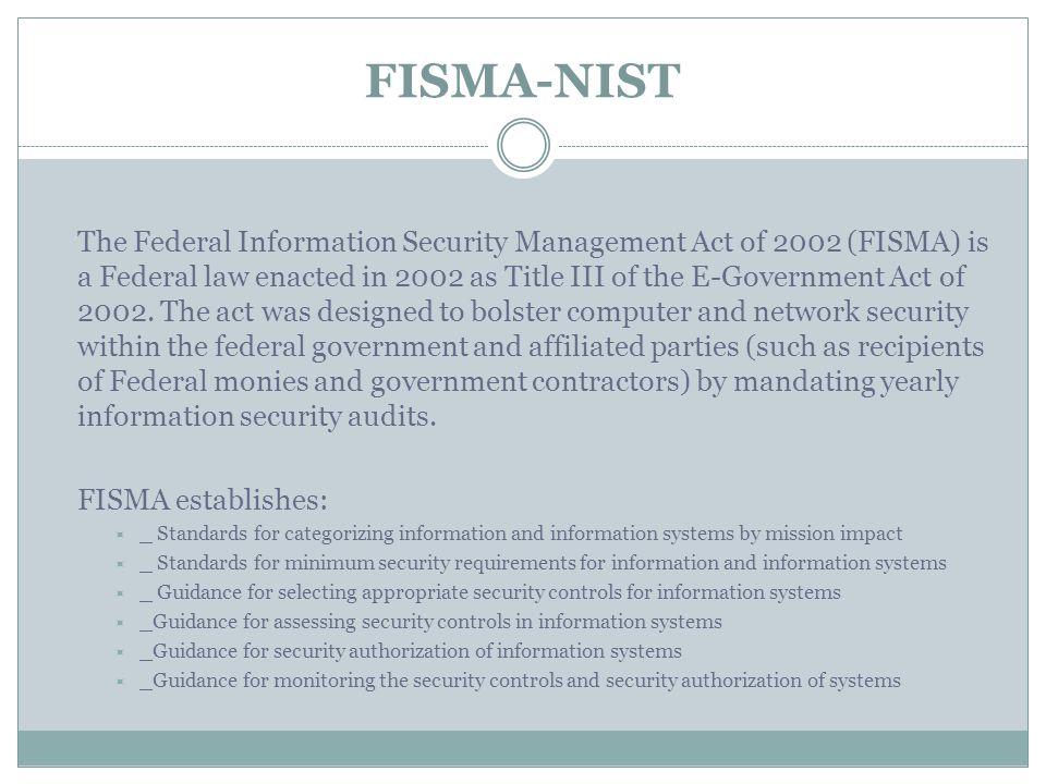 FISMA-NIST